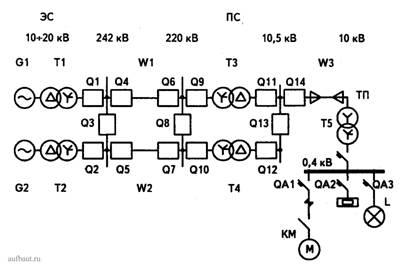 Трансформатор напряжения изображение на схеме 147