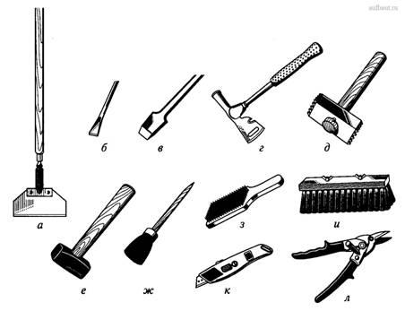Ручные инструменты для отделочных и кладочных работ