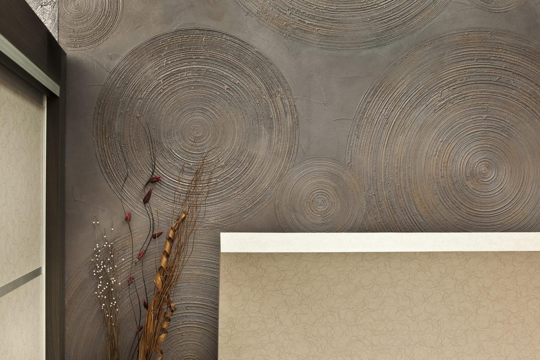 Декоративное покрытия стен своими руками 31