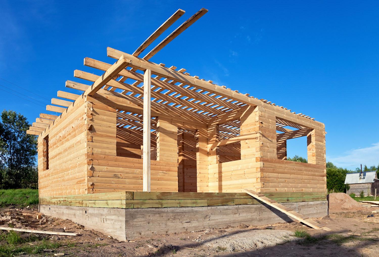 Как строить дом из бруса своими руками видео