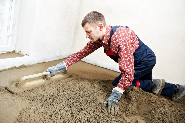 Наливной пол из цемента и песка своими руками 23