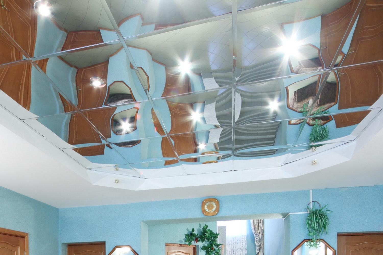 Зеркальный потолок своими руками фото
