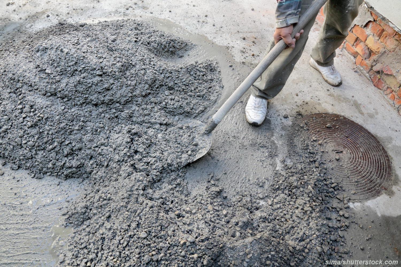 Как сделать цементный раствор с гравием
