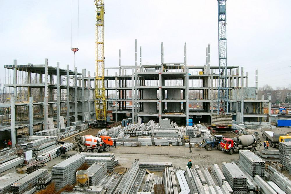 Строительство с применением железобетонных констукций