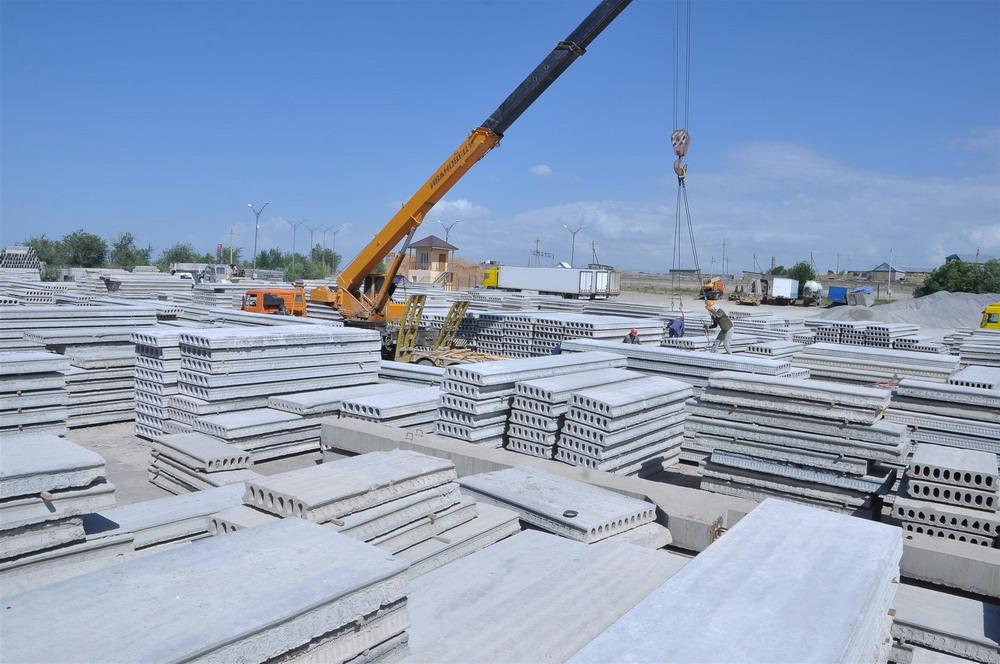 Складирование железобетонных конструкций на открытых площадках