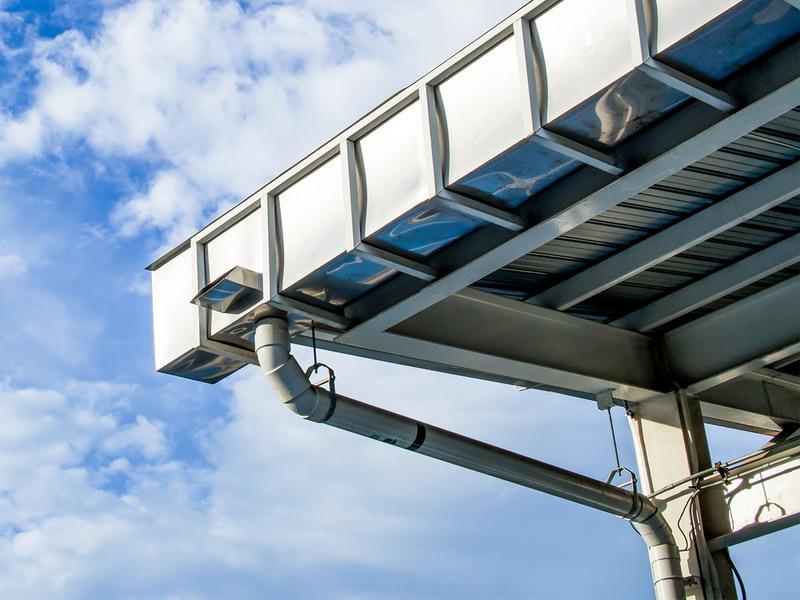 водосточная система плоской крыши