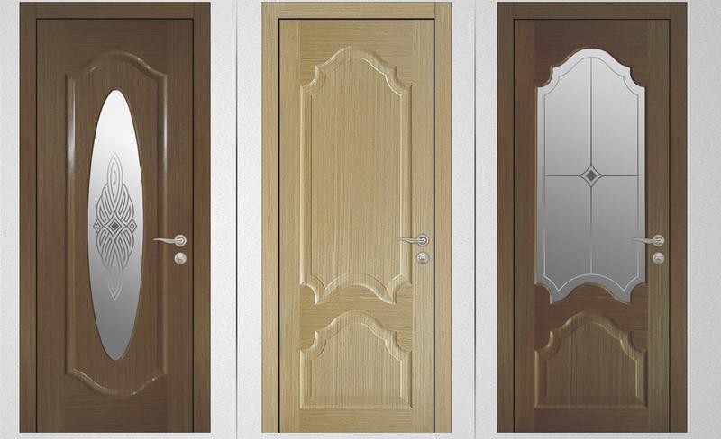двери из шпона - варианты
